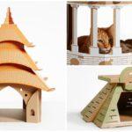 ไอเดียสุดสร้างสรรค์ 'บ้านแมวจากลังกระดาษ' ที่ออกแบบดีไซน์เลียนแบบสถาปัตยกรรมชื่อดังของโลก ทาสแมวไม่ควรพลาด!!