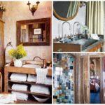 35 ไอเดีย 'ห้องน้ำสไตล์รัสติค' โดดเด่นด้วยการตกแต่งจากธรรมชาติ สวยงาม มีเสน่ห์ มีเอกลักษณ์