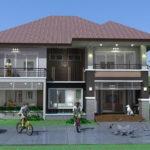 แบบบ้านสองชั้น สไตล์คอนเทมโพรารี 4 ห้องนอน 4 ห้องน้ำ พร้อมพื้นที่ใช้งานครบครัน เหมาะสำหรับครอบครัวใหญ่