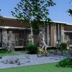 แบบบ้านแถวชั้นเดียว ดีไซน์ทันสมัย 4 ห้องนอน 4 ห้องน้ำ แบ่งพื้นที่ใช้สอยได้อย่างเป็นสัดส่วน