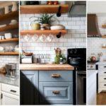 """พื้นที่น้อยไม่ใช่ปัญหาด้วย 40 ไอเดีย """"ห้องครัวขนาดเล็ก"""" เพิ่มพื้นที่ใช้งานด้วยชั้นวางของจุใจ"""
