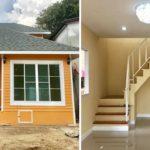 แบบบ้านร่วมสมัย โทนสีส้ม หน้าแคบหลังลึก 4 ห้องนอน 2 ห้องน้ำ งบประมาณก่อสร้าง 1.1 ล้านบาท