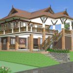 แบบบ้านไทยประยุกต์ยกพื้นสูง 3 ห้องนอน 3 ห้องน้ำ ตกแต่งทันสมัย พร้อมพื้นที่ใช้สอยใต้ถุน
