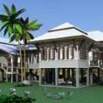 แบบบ้านชั้นเดียวยกพื้นสูง แนวไทยประยุกต์ สวยงามสมบูรณ์แบบ ออกแบบสำหรับการใช้ชีวิตของสองครอบครัว