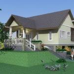 แบบบ้านชั้นเดียว ยกพื้นสูง ขนาดกะทัดรัด พร้อมใต้ถุนโปร่งสบาย เหมาะสำหรับสร้างเอาไว้พักผ่อนในสวน
