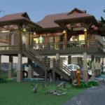 แบบบ้านไม้ไทยประยุกต์ ยกพื้นสูง พร้อมใต้ถุนบ้านเพื่อการพักผ่อน