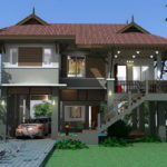 แบบบ้านสองชั้นยกพื้นสูง สไตล์ไทยประยุกต์ มีสเน่ห์ในแบบไทยดั้งเดิม