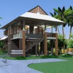 แบบบ้านสวนสองชั้น ดีไซน์ร่วมสมัย 4 ห้องนอน 3 ห้องน้ำ ก่อสร้างท่ามกลางธรรมชาติ เหมาะสำหรับครอบครัวขนาดใหญ่
