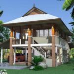 แบบบ้านสวนสองชั้น ตกแต่งร่วมสมัย 3 ห้องนอน 1 ห้องน้ำ พร้อมพื้นที่พักผ่อนท่ามกลางป่าสีเขียวธรรมชาติ