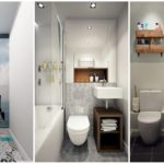 """21 ไอเดีย """"ห้องน้ำขนาดเล็ก"""" จัดสรรพื้นที่แคบให้กลายเป็นพื้นที่ใช้งานแสนสะดวก"""