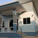 แบบบ้านชั้นเดียวสไตล์โมเดิร์น 3 ห้องนอน 2 ห้องน้ำ ภายใต้งบประมาณ 850,000 บาท (ก่อสร้างในจังหวัดเชียงราย)