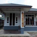 บ้านยกพื้นโทนสีฟ้า ตกแต่งร่วมสมัย 3 ห้องนอน 2 ห้องน้ำ ในงบประมาณไม่เกินล้าน