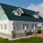 แบบบ้านชั้นเดียวสไตล์อิงลิชคันทรี 2 ห้องนอน อบอุ่น เรียบง่าย เหมาะสำหรับครอบครัวเล็กๆ