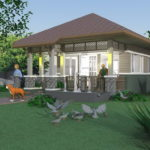 แบบบ้านชั้นเดียว ขนาดกะทัดรัด 1 ห้องนอน 1 ห้องน้ำ ด้วยงบประมาณ 350,000 บาท เหมาะสำหรับครอบครัวเริ่มต้น