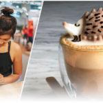 """สาวน้อยวัย 17 เนรมิต """"ลาเต้อาร์ท 3D"""" งานศิลปะสุดน่ารักบนแก้วกาแฟ แล้วใครจะกล้ากินล่ะเนี่ย…"""