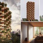 พาชม 'อาคารสีเขียวใจกลางเมือง' โดดเด่นด้วยรูปลักษณ์ที่เหมือน 'ป่าแนวตั้ง' พร้อมการก่อสร้างที่เป็นมิตรต่อสิ่งแวดล้อม