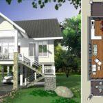 บ้านตากอากาศยกพื้น สไตล์คอนเทมโพรารี 2 ห้องนอน 2 ห้องน้ำ พร้อมระเบียงพักผ่อนชมวิวหน้าบ้าน