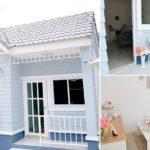 แบบบ้านน่ารักสไตล์อังกฤษ ขนาดกะทัดรัด 2 ห้องนอน 1 ห้องน้ำ เหมาะสำหรับคู่รักหรือครอบครัวเริ่มต้น