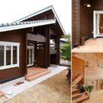 แบบบ้านไม้สองชั้นสไตล์ญี่ปุ่น เน้นความอบอุ่นด้วยวัสดุไม้สีธรรมชาติ