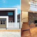 บ้านสองชั้นสไตล์โมเดิร์นวินเทจ เน้นการตกแต่งด้วยไม้ ภายนอกเรียบง่าย แต่ภายในอบอุ่นมาก