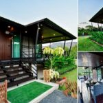บ้านพักตากอากาศ ขนาดกะทัดรัด ดีไซน์โมเดิร์น พร้อมเฉลียงรับลมตลอดแนวบ้าน