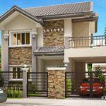 แบบบ้านสองชั้นสไตล์ร่วมสมัย อบอุ่นด้วยโทนสีเบจ 4 ห้องนอน 3 ห้องน้ำ พร้อมระเบียงชมวิวและโรงจอดรถ