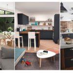 20 ไอเดียประหยัดพื้นที่ 'ห้องนั่งเล่น & ห้องครัว' ใช้งานได้แบบทูอินวัน ทั้งพักผ่อนและทำอาหาร