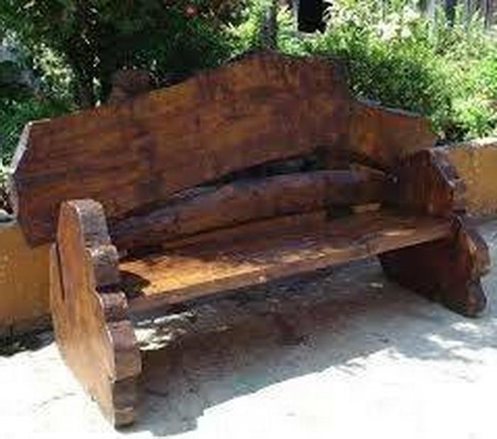 Loft Bench Seat Natural: 34 ไอเดีย 'ม้านั่งจากไม้ซุง' เน้นความเป็นธรรมชาติ เพิ่ม