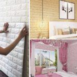 """ไอเดีย DIY """"แผ่นวอลล์เปเปอร์ 3 มิติ"""" เปลี่ยนโฉมห้องเก่าให้เป็นห้องใหม่ แบบไม่ต้องง้อช่าง"""