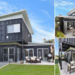 บ้านสองชั้นสไตล์โมเดิร์น สร้างจากตู้คอนเทนเนอร์ พร้อมด้วยฟังก์ชันที่ครบครันทันสมัย