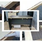 แชร์วิธีซ่อมแซม 'โต๊ะไม้อัดพองตัว' ด้วยกระดาษสติกเกอร์ ขั้นตอนง่ายๆ ในต้นทุนสุดประหยัด