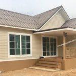 บ้านชั้นเดียวขนาดกะทัดรัด แต่งผนังไม้โทนสีอบอุ่น พื้นที่ใช้สอย 58 ตร. ม. งบประมาณ 720,000 บาท