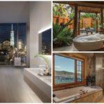40 ไอเดีย 'ห้องอาบน้ำสุดหรู' พร้อมวิวนอกหน้าต่าง จัดเต็มไปกับทิวทัศน์แสนสวยและบรรยากาศสุดผ่อนคลาย