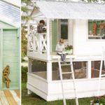 DIY สุดน่ารัก! สองสามีภรรยาเนรมิต 'บ้านของเล่น' ในสวนหลังบ้าน สร้างพื้นที่แห่งความสุขของครอบครัว