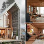 บ้านไม้แนวโมเดิร์นลอฟท์ ออกแบบอย่างเป็นมิตรกับสิ่งแวดล้อม เพื่อการพักผ่อนท่ามกลางธรรมชาติอันเงียบสงบ