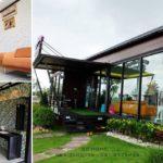 """บ้านโครงเหล็กน็อคดาวน์ ออกแบบให้เป็น """"คลินิคทันตกรรม""""เน้นพื้นที่ใช้สอยกว้างขวาง พร้อมมุมนั่งพักสบายๆ ทั้งภายในและภายนอก"""