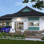 บ้านเดี่ยวชั้นเดียว พร้อมชานบ้านเพื่อการพักผ่อน 3 ห้องนอน 2 ห้องน้ำ พื้นที่ใช้สอย 118 ตร. ม.