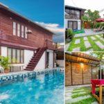 บ้านครึ่งไม้ครึ่งปูนพร้อมสระว่ายน้ำ ดีไซน์ดั้งเดิมแบบไทยชนบท พร้อมสวนบรรยากาศร่มรื่น เหมาะสำหรับการพักผ่อนในวันหยุด