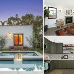 บ้านชั้นเดียว สไตล์คอนเทมโพรารี สีขาวเรียบง่าย ตัดด้วยเฟอร์นิเจอร์ไม้เก่าแก่ดีไซน์โดดเด่น มาพร้อมสระว่ายน้ำส่วนตัว