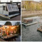 """สองศิลปินสร้าง """"เรือบ้านลอยน้ำ"""" อยู่อาศัยใช้ชีวิตแบบผจญภัย ท่องเที่ยวไปทั่วย่านน้ำของยุโรป!!"""