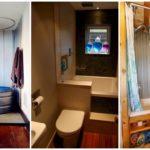 """32 ไอเดีย """"ห้องน้ำขนาดเล็ก"""" ดีไซน์สวยหลากสไตล์ ช่วยประหยัดพื้นที่ใช้สอยภายในบ้าน"""