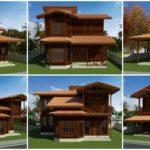 """9 ไอเดีย """"แบบบ้านกึ่งไม้กึ่งปูนสองชั้น"""" สวยงามและมีเอกลักษณ์ แบบบ้านยอดนิยมของชนบทไทย"""