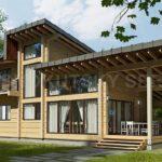 บ้านไม้ขนาดชั้นครึ่ง สะท้อนความเป็นธรรมชาติ โอบล้อมด้วยพื้นที่สีเขียวร่มรื่น