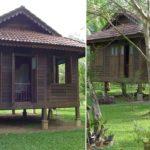 บ้านไม้ยกพื้นชั้นเดียว มีเอกลักษณ์แบบไทยดั้งเดิม พร้อมผ่อนคลายไปกับสระว่ายน้ำท่ามกลางธรรมชาติ