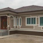 บ้านชั้นเดียวหลังคาปั้นหยา 3 ห้องนอน 2 ห้องน้ำ สามงามมีเอกลักษณ์ ตามแบบฉบับบ้านร่วมสมัย