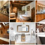 """สดชื่นไปกับการอาบน้ำด้วย 55 ไอเดีย """"ห้องน้ำสไตล์รัสริค"""" ตกแต่งด้วยไม้และหิน ดื่มด่ำกลิ่นอายธรรมชาติ"""
