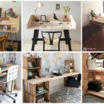 """23 ไอเดีย """"โต๊ะทำงานจากพาเลทไม้ """" เปลี่ยนโต๊ะทำงานเรียบง่าย ให้กลายเป็นโต๊ะไม้สไตล์รัสติคสุดชิค"""