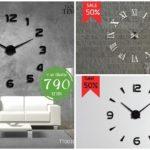 """25 ไอเดีย DIY """"นาฬิกา 3D"""" ตกแต่งผนังด้วยตัวเองง่ายๆ แบบไม่ต้องเจาะผนัง"""