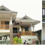 บ้านชั้นครึ่งทรงไทยประยุกต์ โทนสีครีมสว่าง ตกแต่งงดงามสะท้อนเอกลักษณ์แบบไทย