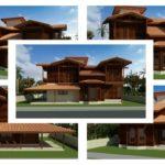 """9 """"แบบบ้านไม้กึ่งปูนสองชั้น"""" ดีไซน์งานไม้สวยเป็นเอกลักษณ์ เหมาะสำหรับก่อสร้างในชนบท"""